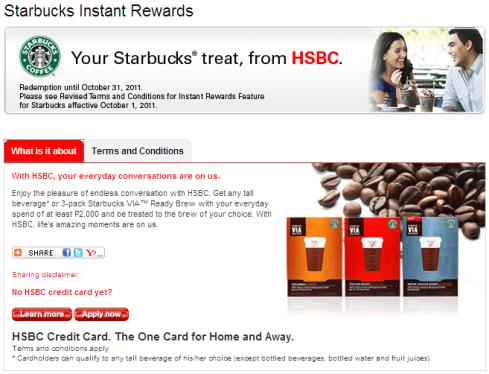 Your Starbucks treat, from HSBC  | HSBC Philippines – AngUnicaHija